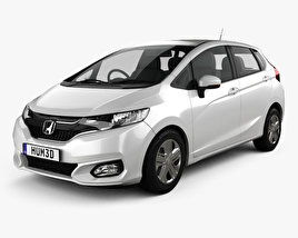 3D model of Honda Fit JP-spec 2017