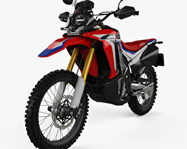 3D model of Honda CRF250L Rally 2017
