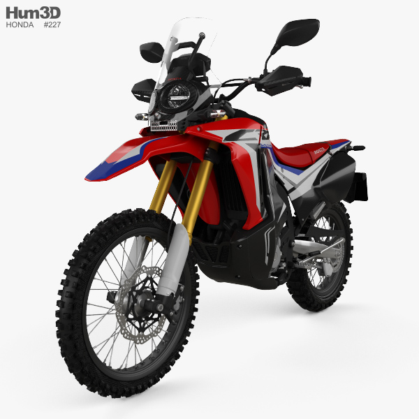 Honda CRF250L Rally 2017 3D model