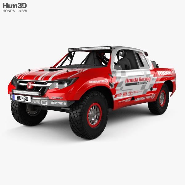 3D model of Honda Ridgeline Baja Race Truck 2016