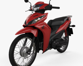 3D model of Honda Wave 110S 2017