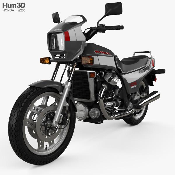 3D model of Honda CX650E 1983