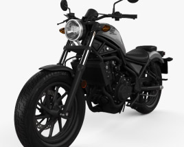 3D model of Honda Rebel 500 2018
