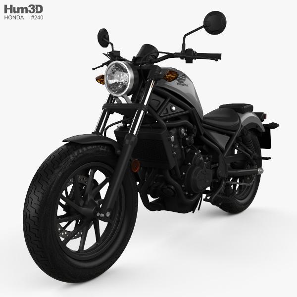 3D model of Honda Rebel 500 2018