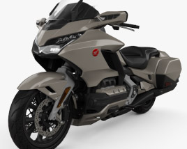 3D model of Honda GL 1800 Gold Wing 2018