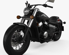 3D model of Honda Shadow Phantom 2018