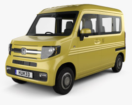 3D model of Honda N-Van Style Fun with HQ interior 2018