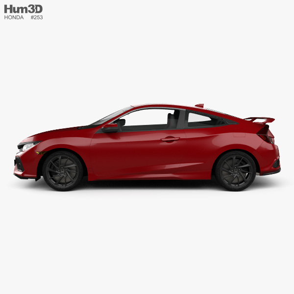 Honda Civic Si coupe with HQ interior 2016 3D model