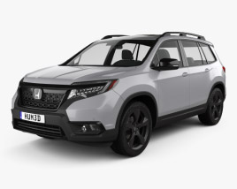 3D model of Honda Passport Elite 2019