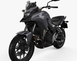 3D model of Honda CB500X 2018