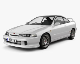 3D model of Honda Integra Type-R coupe 1995
