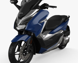 3D model of Honda Forza 300 2018