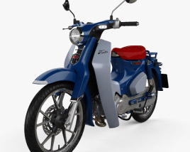 3D model of Honda Super Cub C125 2019