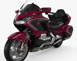 3D model of Honda Gold Wing Tour 2018