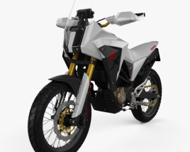 3D model of Honda CB125X 2018