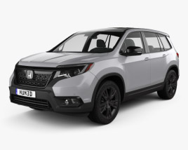 3D model of Honda Passport Sport 2019