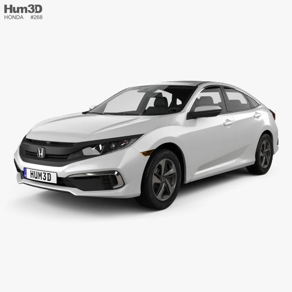 Honda Civic LX sedan 2019 3D model