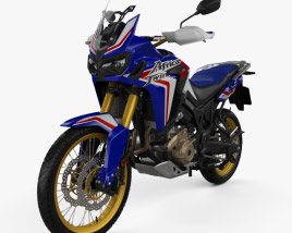 3D model of Honda CRF1000L Africa Twin ABS 2019