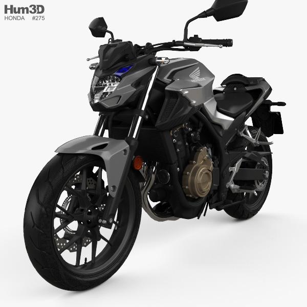 Honda CB500F 2019 3D model