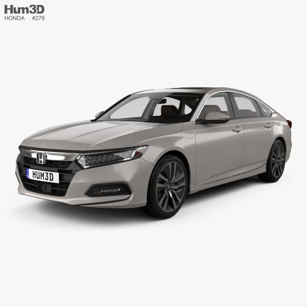 Honda Accord Touring sedan with HQ interior 2018 3D model
