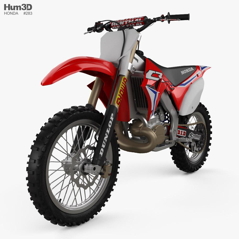 Honda CR250 2002 3D model
