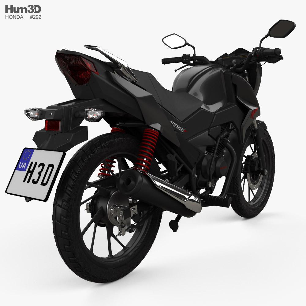 Honda CB125F 2020 3d model