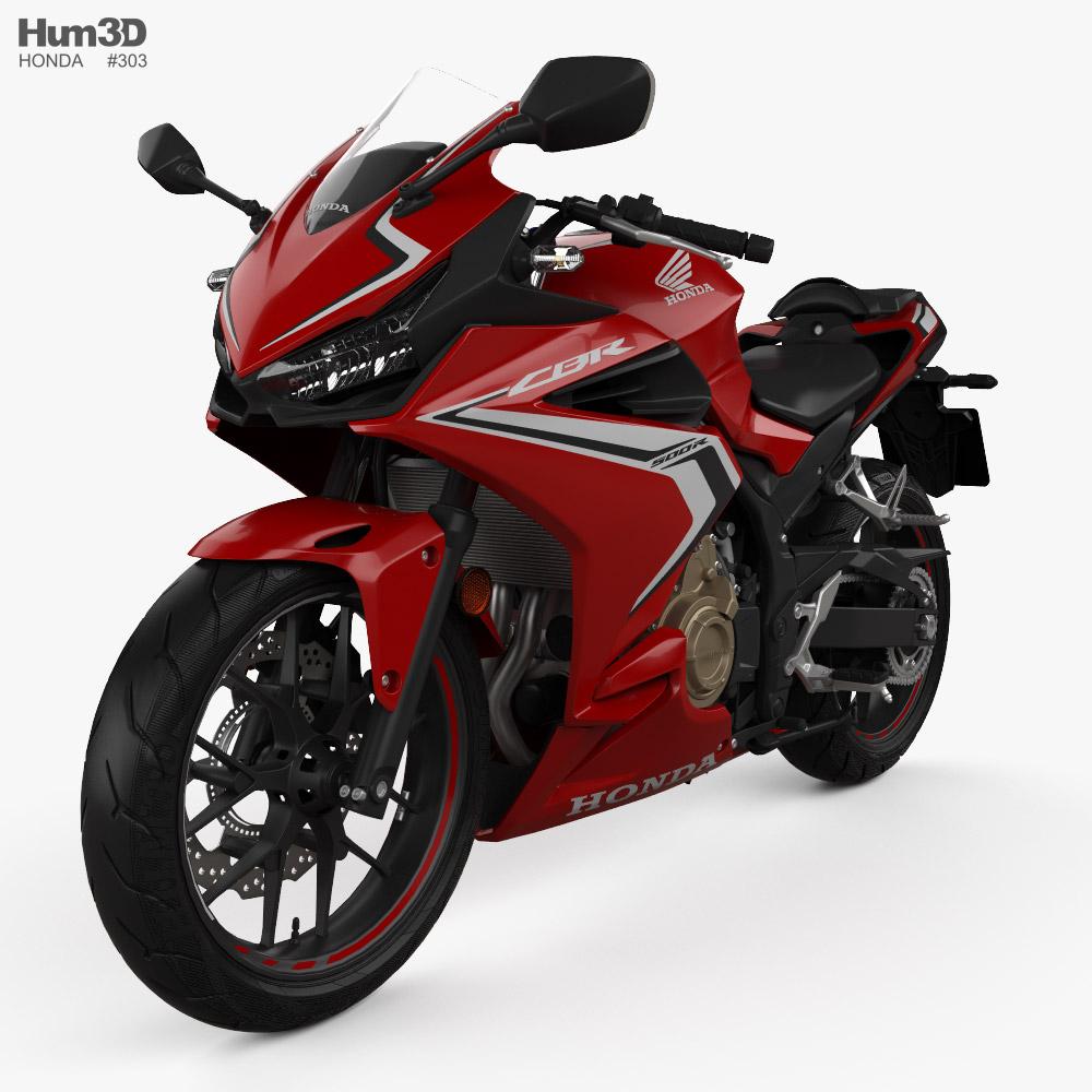 Honda CBR500R ABS 2020 3D model