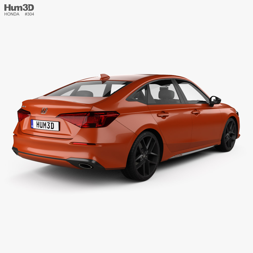 Honda Civic sedan Concept 2022 3d model back view