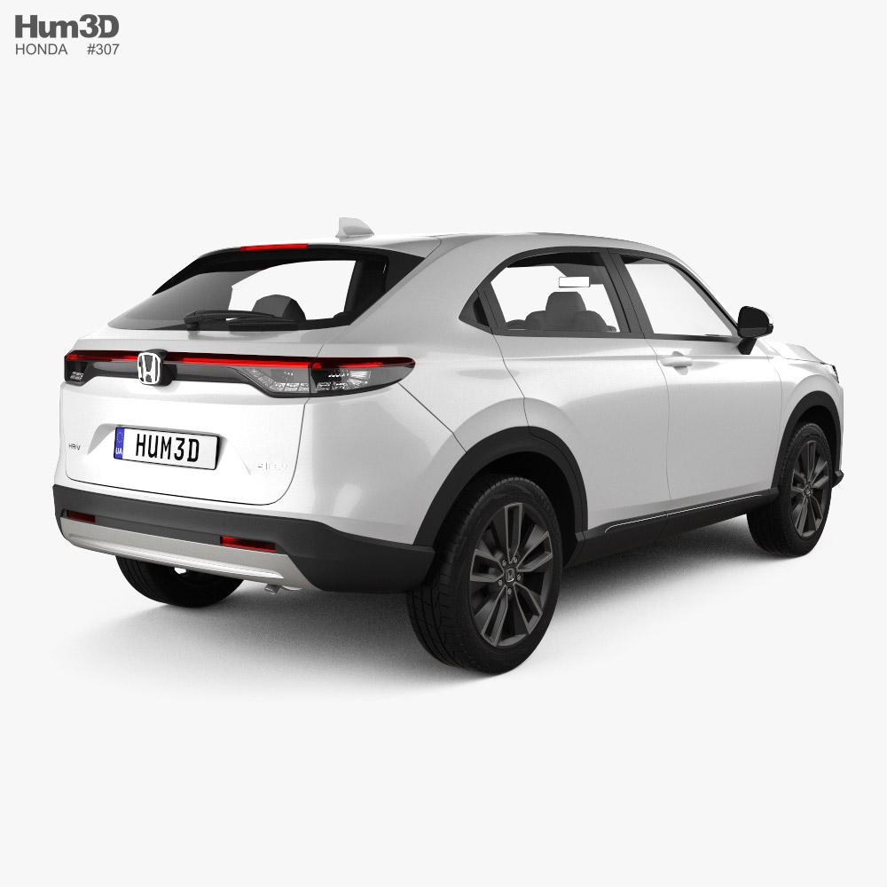 Honda HR-V e-HEV 2022 3d model back view