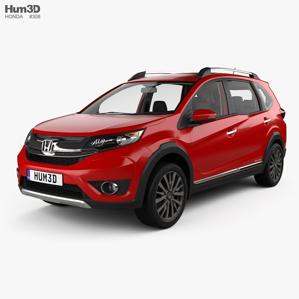 Honda BR-V with HQ interior 2016 3D model