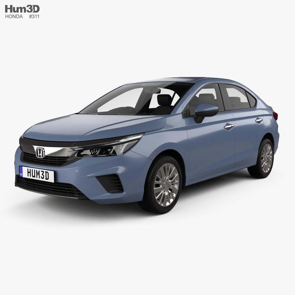 Honda City with HQ interior 2019 3d model