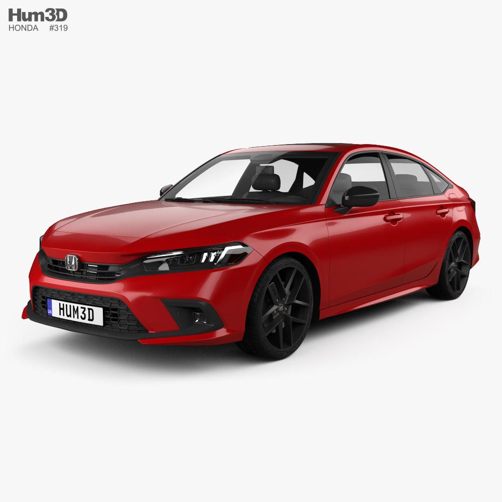 Honda Civic Sport US-spec sedan 2022 3D model