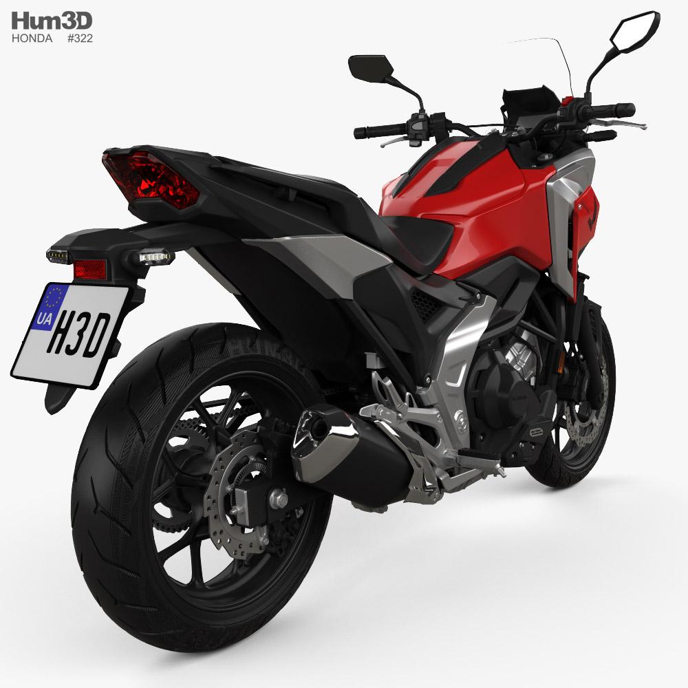 Honda NC750X 2021 3d model back view