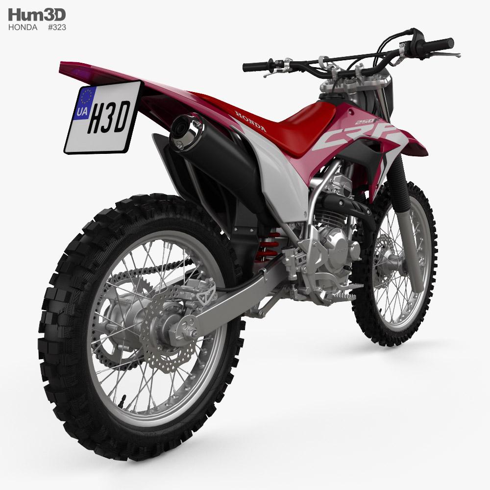 Honda CRF250F 2021 3d model back view