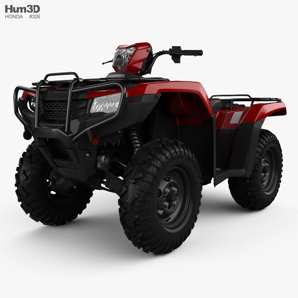 Honda TRX520FE 2022 3D model