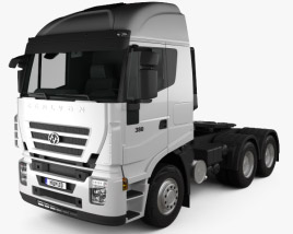 3D model of Hongyan Genlyon 380 Tractor Truck 2009