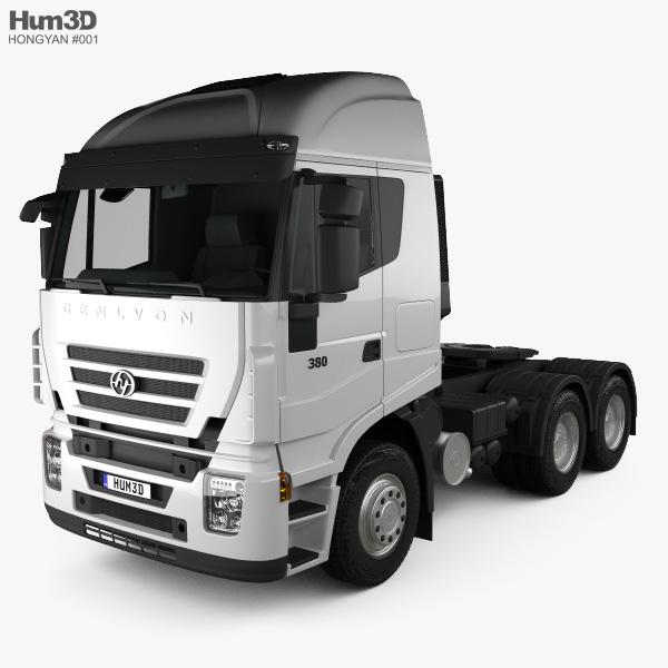 3D model of Hongyan Genlyon 380 Tractor Truck 2009