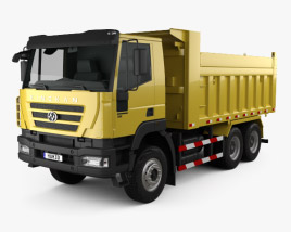 3D model of Hongyan Kingkan Powerforce 380 Dump Truck 3-axle 2011