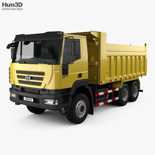 3D model of Hongyan Kingkan Powerforce 380 Dump Truck 3-axle 2011