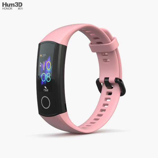 Honor Band 5 Pink 3D model