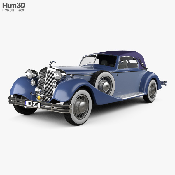 3D model of Horch 853 A Sport Cabriolet 1935