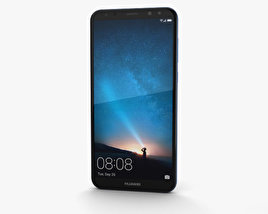 3D model of Huawei Mate 10 Lite Aurora Blue
