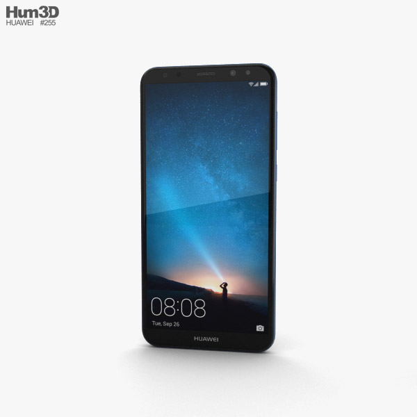 Huawei Mate 10 Lite Aurora Blue 3D model