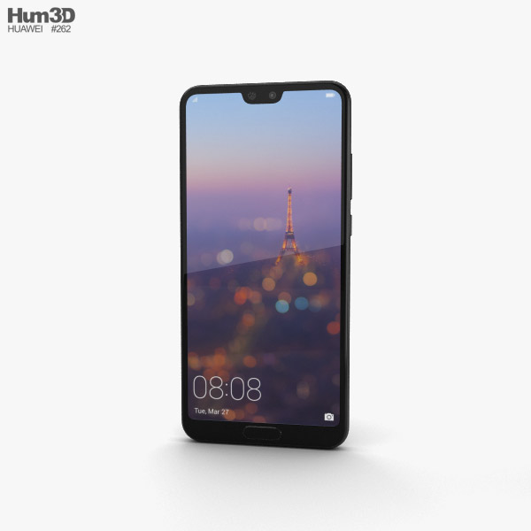 Huawei P20 Black 3D model