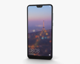 3D model of Huawei P20 Pro Midnight Blue