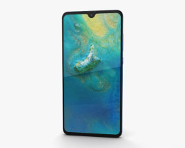 3D model of Huawei Mate 20 Midnight Blue