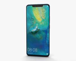 3D model of Huawei Mate 20 Pro Midnight Blue