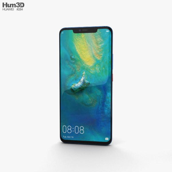 Huawei Mate 20 Pro Midnight Blue 3D model