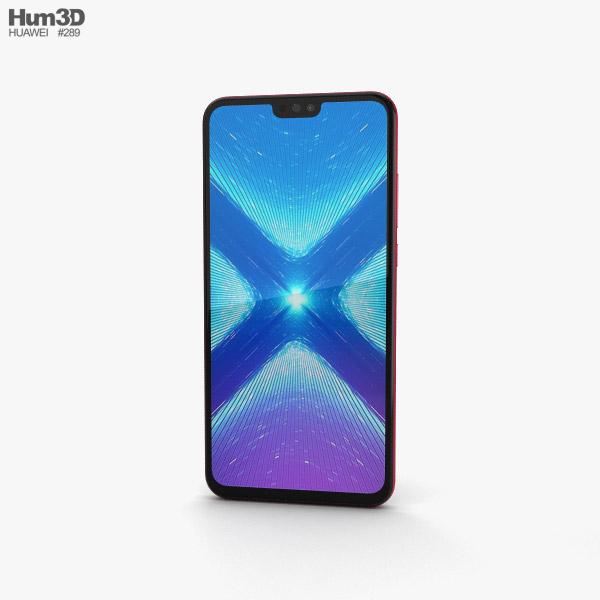 Huawei Honor 8X Red 3D model