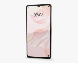3D model of Huawei P30 Pearl White